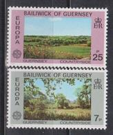 Guernsey, 1977, Europa CEPT, Landscapes, 2 Stamps - 1977