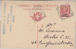 Italien - Tripolis 10 C. Ganzsache Überdruck Tripoli Di Barberia - Berlin 1910 - Italia