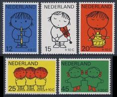Nederland Netherlands Pays Bas 1969 Mi 928 /2  YT 900 /4 SG 1097 /1 ** Children + Music - Dick Bruna / Kinder + Musik - Kindertijd & Jeugd