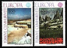 Turkey, 1977, Europa CEPT, Landscapes, 2 Stamps - 1977