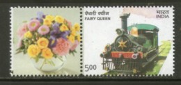 India 2014 Fairy Queen Steam Locomotive Railway My Stamp MNH # 22 - Trains