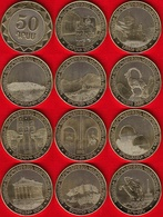 """Armenia Set Of 11 Coins: 50 Drams 2012 """"Regions Of Armenia"""" UNC - Armenia"""