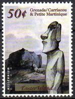 GRENADA - 1v - MNH**  Easter Island Remote Inhabited Island Moai Statue - Sculpture Escultura Skulptur  L'île De Pâques - Escultura