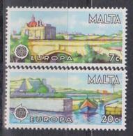 Malta, 1977, Europa CEPT, Landscapes, 2 Stamps - 1977