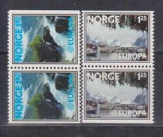 Norway, 1977, Europa CEPT, Landscapes, 2 Pairs Of 2 Stamps - 1977