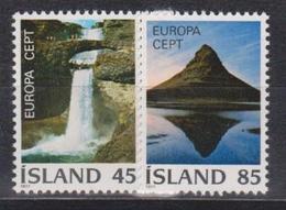 Iceland, 1977, Europa CEPT, Landscapes, 2 Stamps - 1977