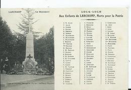 LARCHAMP - Le Monument - Larchamp