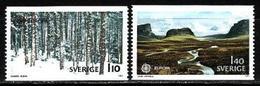 Sweden, 1977, Europa CEPT, Landscapes, 2 Stamps - 1977