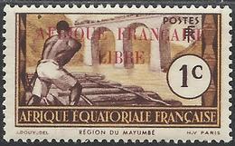 AFRIQUE EQUATORIALE FRANCAISE - AEF - A.E.F. - 1940 - YT 92** - A.E.F. (1936-1958)