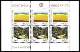 Portugal, 1977, Europa CEPT, Landscapes, Block - 1977