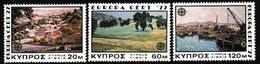 Cyprus, 1977, Europa CEPT, Landscapes, 3 Stamps - 1977