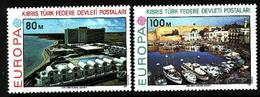 Turkish Cyprus, 1977, Europa CEPT, Landscapes, 2 Stamps - 1977