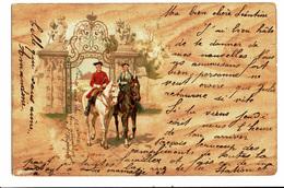 CPA - Carte Postale-Belgique Un Couple à Cheval 1900 VM4686 - Couples