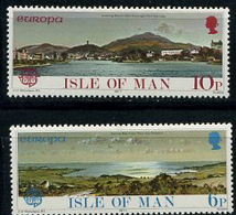 Isle Of Man, 1977, Europa CEPT, Landscapes, 2 Stamps - 1977