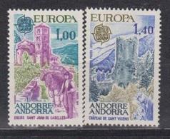 Andorra Fr., 1977, Europa CEPT, Landscapes, 2 Stamps - 1977