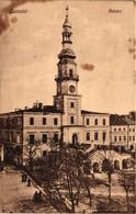 Poland, Zamosc, Ratusz, Town Hall, Old Postcard - Polonia
