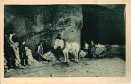 Poland, Wieliczka Salt Mine, Miners At Work With A Horse, Old Postcard - Polonia