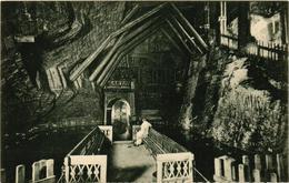 Poland, Wieliczka Salt Mine, Grota Arckys Rudolfa, Old Postcard - Polonia