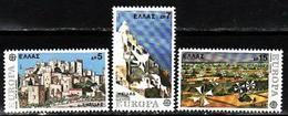 Greece, 1977, Europa CEPT, Landscapes, 3 Stamps - 1977