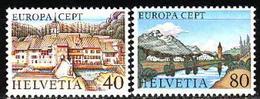 Switzerland, 1977, Europa CEPT, Landscapes, 2 Stamps - Europa-CEPT