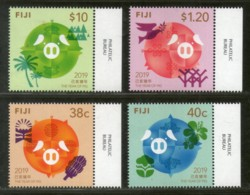 Fiji 2019 Chinese New Year Of Pig Festival Zodiac Signs Animal 4v MNH # 3526 - Chinese New Year