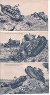 CPA - Lot De 3 Cartes - Theme Militaria ,materiel,chars D'assaut - Equipment