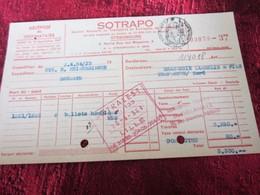 1954 Congé Récépissé SOTRAPO Brumath/Brasserie Lambelin-Templeuve Nord Facture Document Commercial Ballot Houblon-Biére - Francia