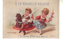"""Chromo  A La Nouvelle Héloise Paris   -""""Printemps"""" Imp J.Cheret  Et P. Brunel  Paris - Other"""