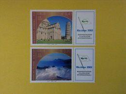 2002 ITALIA FRANCOBOLLI NUOVI STAMPS NEW MNH** PATRIMONIO MONDIALE UNESCO CON APPENDICE BANDELLA - 2001-10: Nieuw/plakker