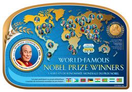 Central Africa. 2019 Nobel Prize Winners (Tenzin Gyatso, The 14th Dalai Lama, Nobel Peace Prize, 1986)  OFFICIAL ISSUE - Nobel Prize Laureates