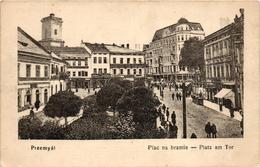 Poland, Przemysl, Plac Na Bramie, Square Scene, Old Postcard - Polonia