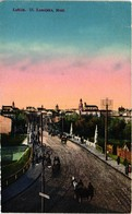 Poland, Lublin, Ul. Zamojska, Most, Street Scene, Old Postcard - Polonia
