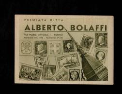 Cartolina Premiata Ditta Alberto Bolaffi - Con Timbro Di Manifestazione Filatelica E Francobollo - Pubblicitari