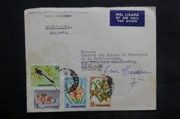 SINGAPOUR - Enveloppe Commerciale De Pakanbaru Pour La France En 1963 , Affranchissement Plaisant - L 35112 - Singapour (1959-...)