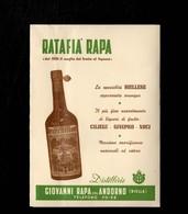 Cartolina Pubblicitaria Tripla Anni '50 Pubblicità Distillerie Giovanni Rapa Andorno Numerata - Pubblicitari