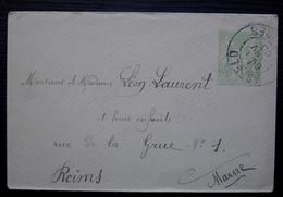 Asfeld (Ardennes) 1903  Petite Enveloppe Entier Postal Pour Reims - Marcofilie (Brieven)