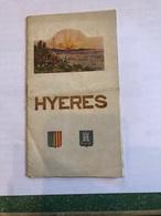 Hyeres Plaquette De 16 Pages En Anglais De 9 Cm Sur 16 Cm - Dépliants Touristiques