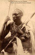 Congo Belge..Entier Postal.Postal Card 45 Cts. Chef De Sang De L'Urundi - Congo Belga - Otros
