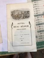 Hôtel Beau Séjour Hyeres-Les-Palmiers (4pages De 16,3 Cm Sur 9cm) - Publicités