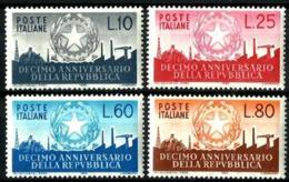 Italia Nº 725/8 Con Charnela - 6. 1946-.. República