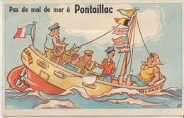 ROYAN - PONTAILLAC - Carte à Système Complète. Pas De Mal De Mer à ....... Pontaillac. - Royan