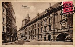 Poland, Wroclaw, Breslau, University,Old Postcard - Polonia