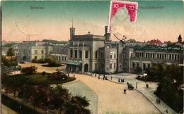 Poland, Wroclaw, Breslau, Central Railway Station,Old Postcard - Polonia