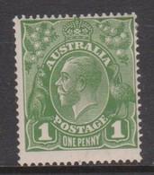 Australia SG 76 1924 King George V,1d Green,Single Watermark, Mint  Hinged - 1913-36 George V: Heads