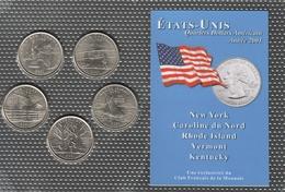 0038 - 'QUARTERS DOLLARS AMERICAIN' - 5 Etats - 2001 - Sammlungen