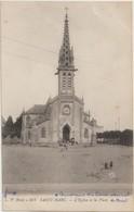 SAINT - MARC - L'Eglise Et La Place. Personnages Devant L'Eglise. Petite Animation. - France