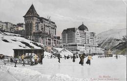 ST.MORITZ → Palace Hotel Mit Eisbahn Und Touristen, Ca.1910 - GR Grisons