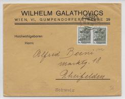 AUTRICHE - 1936 - ENVELOPPE De WIEN => RHEINFELDEN (SUISSE) - Storia Postale