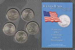 0039 - 'QUARTERS DOLLARS AMERICAIN' - 5 Etats - 2002 - Stati Uniti
