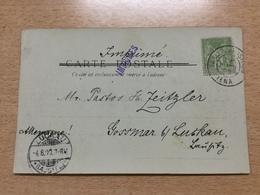 K8 France 1900 Cp De Paris Exposition Universelle Avec Obliteration Speciale - 1898-1900 Sage (Type III)